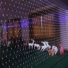 battery timer indoor outdoor net mesh curtain led light