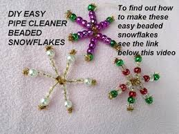 beaded snowflakes ornaments gift toppers pipe cleaner