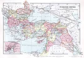 Ottoman Syria by Turkish Ottoman Empire Map Lincoln Stamp Album 1899
