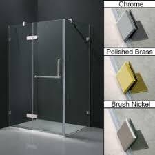 vigo 60 inch clear glass frameless sliding shower door is