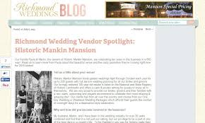 tools to register for wedding richmond wedding venue in the press historic mankin mansion