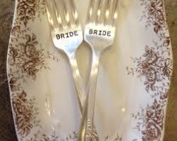 wedding silverware vintage silverware sted wedding forks i do me set