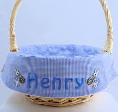 custom easter baskets boys personalized easter basket liner and by morethanastitch on zibbet