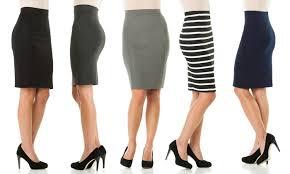 knee length skirt sociology knee length pencil skirt sizes m l groupon