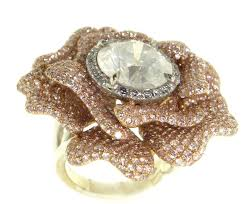 fancy wedding rings fancy diamond floral engagement ring ringspotters