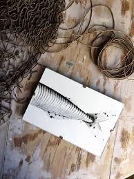 original watercolor of a fosh tail fin animal art fishing