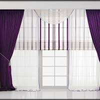 Purple And White Curtains Bedroom Modern Luxury Bedroom Idea With Purple And White Curtains