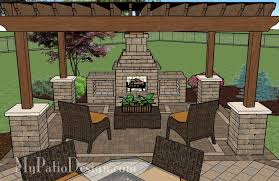 Covered Backyard Patio Ideas Pergola Covered Fireplace Patio Tinkerturf