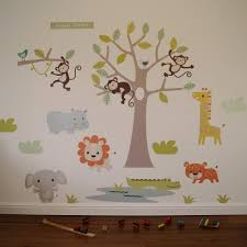 pastel jungle safari wall stickers parkins interiors pastel jungle safari wall stickers