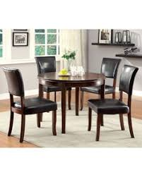 round table woodside rd woodside transitional dark cherry solid wood dining table