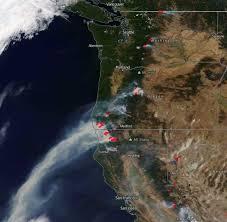 map of oregon smoke blanket of smoke from norcal fires activenorcal net