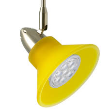 Led Track Lighting Neo Cone Led Track Light Kit Yellow 12 Volt Dimmable Or Non