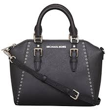 Tas Michael Kors michael kors ciara grommet medium messenger leather bag
