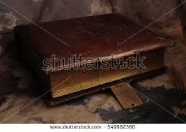 Brown Leather Photo Album Old Vintage Photo Album Metal Buckle Stock Photo 549982360