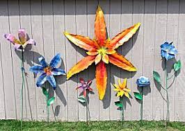 metal flowers for yard metal flower garden gardening ideas