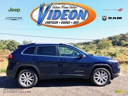 light blue jeep 2016 jeep cherokee limited 4x4 in true blue pearl 130879 all