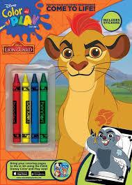 disney the lion guard color u0026 play crayon coloring u0026 activity book