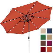Solar Patio Umbrella 10ft Deluxe Solar Led Lighted Patio Umbrella W Tilt Adjustment
