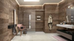 wood wall decoration for modern bathroom with glass door ideas and