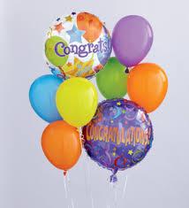 balloon delivery ny bool s flower shop congratulations balloon bouquet ithaca ny