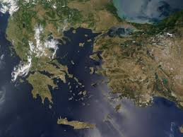 Map Of Greece And Turkey by Nasa Visible Earth Greece And Turkey