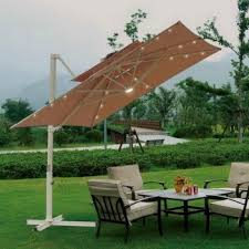 Outdoor Umbrella With Lights Modern Deck With Nice Led Lighting Design Patio Design Ideas 1758