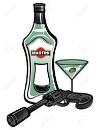 martini cartoon clip art bouteille de martini avec james bond pistolet clip art libres de