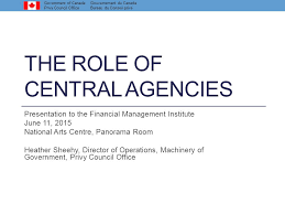 bureau gouvernement du canada the of central agencies ppt