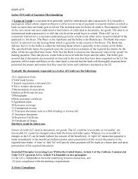 Letter Of Credit Validity letter of credit for garments industry