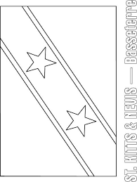 st kitts u0026 nevis flag coloring page download free st kitts