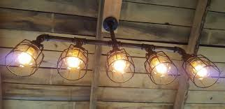 rustic industrial edison bulb iron pipe pool table light