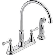 standard kitchen faucet kitchen delta cassidy 2 handle standard kitchen faucet with side