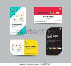 business card design template leaflet business stock vector