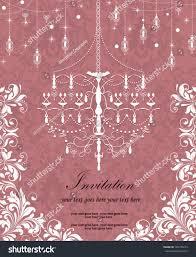 Vintage Wedding Invitation Card Vintage Wedding Invitation Card Chandelier Stock Vector 165749219