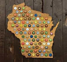 Maps Wisconsin by Beer Cap Maps Wisconsin Map Daiseye