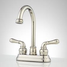 gooseneck solid brass kitchen faucet signature hardware