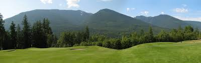 mountain backdrop balfour golf club in balfour columbia canada