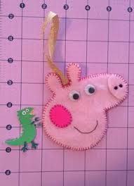 peppa pig frame made from felt my etsy shop