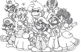 mario characters coloring pages coloring coloring image