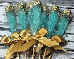light blue candy sticks rock candy etsy