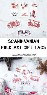 free scandinavian christmas gift tags