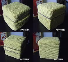 pouf footstool floor cushion floor cushions crochet granny and
