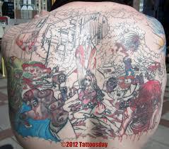 tattoosday a tattoo blog steve u0027s zombie apocalypse in progress