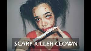 killer clown makeup halloween scary killer clown halloween makeup youtube
