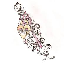 the key to my heart tattoo design photos pictures and sketches