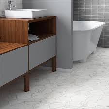 classico carrara hexagon 7 x8 porcelain f w tile