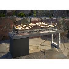 Propane Fire Pit Glass Furniture Square Monaco Stone Propane Fire Pit For Outdoor