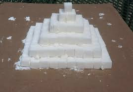 egypt craft sugar cube pyramid