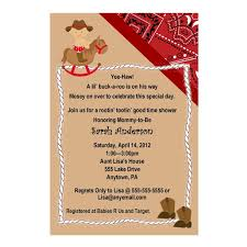 baby shower cowboy western cowboy baby shower invitation red or blue you
