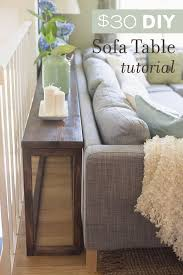 How To Make End Tables by 30 Diy Sofa Console Table Tutorial Diy Sofa Console Tables And